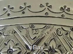 A Fine Grand Antique Victorienne En Argent Massif Verre À Vin Coupe Beaker 1878