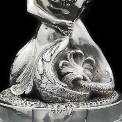 A Victorian Solid Silver Figural Sculpted Centrepiece Bowl Henry Lewis 1896