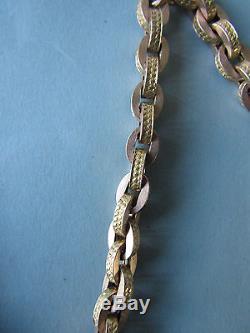 Absolument Magnifique Et Rare Victorienne Anglaise En Or 12 Ct Albert Watch Chain