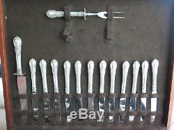 Américaine Victorienne Par Lunt Sterling Silver Set 12 Service Flatware 111 Pièces