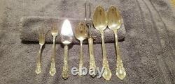American Victorian Par Lunt Sterling Silver Set. Service Pour 8, 63 Pièces Au Total