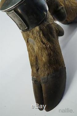 Ancien Anglais Tard Victorian Silver & Stag's - Nouveauté - Tableau - Nouveauté - Vesta C1898