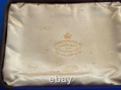 Ancien Boîtier De Cigare En Argent Massif Offert Comme Cadeau Royal Par La Reine Victoria 1896
