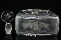 Ancienne Carafe En Verre Argentée Et Cristal Gravé Allemands / Hollandais