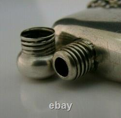 Anglais Argent Massif Miniature Flasque Bouteille De Parfum 1900 Antique