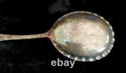 Anticique Daniel Low Salem Witch Argent Sterling Souvenir Jelly Cramped Spoon Rare