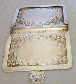 Antique 1891 Sterling Silver Repousse Livre Couvrir Prière Commune Journal Biblique