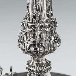 Antique 19e C Centre D'artillerie Royale De Solide Victorien Silver Royal C. 1874