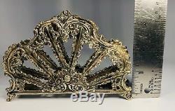 Antique 19ème Siècle Victorien 800 Argent Porte-serviette