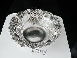 Antique Ajourées Silver Bowl, Sheffield 1896, Martin, Hall & Co