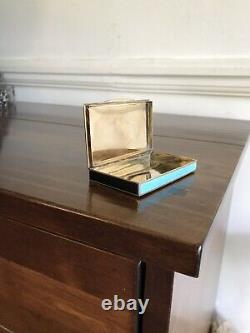 Antique Allemand Guilloche Enamel Solid Silver Snuff Box Case Londres Impo 1918