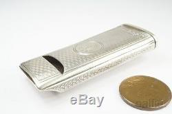 Antique Anglais Victorian Silver & Cas Vesta / Match Safe C1889