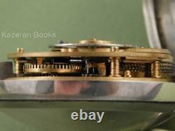 Antique En Argent Massif Paire Cas Verge Fusée Fob Pocket Watch Bond Okehampton + Key