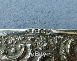 Antique En Argent Sterling Châtelaine George Unite Aide-mémoire Pour Ordinateur Portable Hm 1899