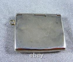 Antique Estate Hallmarked Sterling Silver Envelope Shaped Stamp Case Holder
