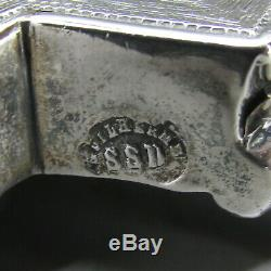 Antique Esthétique Pair Portugais Silver Solid 10 Candlesticks Porto C1870