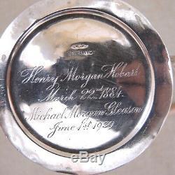 Antique George W Shiebler Co En Argent Sterling Repousse Coupe Stein Tasse De New York Vtg
