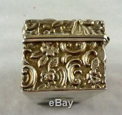 Antique Poinçonnés En Argent Sterling Snuff Box Walker & Trinket Salle Bham 1900
