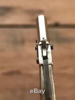 Antique Rare Montre De Poche Key Fob Flintlock Gun Miniature