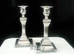 Antique Silver Bougeoirs, Sheffield 1895, Walter Latham