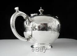 Antique Silver Bullet Licence Teapot, Londres 1857