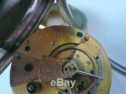 Antique Silver Fusée Pocket Watch, James Forrest De Glasgow, Poinçonnés 1883