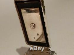 Antique Silver Guilloché Voyager Encrier Vissée William Neal Londres 1873