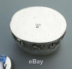Antique Silver Solide Une Amende Et Rare Chester George V Tea Caddy C. 1911