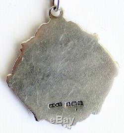 Antique Solid Silver Albert Montre De Poche Chaîne & Fob Médaille Vintage Old