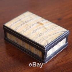 Antique Tôt Monté Argent Victorienne Mammoth Dent Priser Ou Trinket Box, 1849