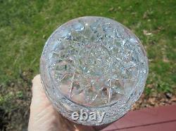 Antique Victorian Era Verre En Cristal Et En Argent Sterling Humidor Jar