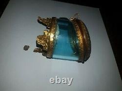 Antique Victorian Silver Français Lady's Pocket Watch & Français Glass Cas Endommagé