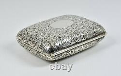 Antique Victorian Solid Silver Snuff Box, (thomas Johnson I, 1880)