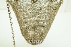 Antique Victorian Sterling Silver Mesh Expandable Coin Purse
