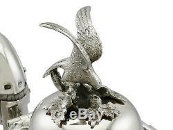 Antique Victorian Sterling Silver Teapot 1856 733g Hauteur 22.3cm Largeur 15,3 CM