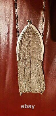 Antique Victorian Whiting & Davis Sterling Silver Mesh Purse