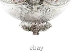 Antique Victorien Sterling Silver Bowl 1900