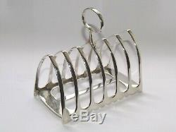 Antique Victorienne 155g Argent Sterling Solide Toast Rack Six Section Sheff 1890
