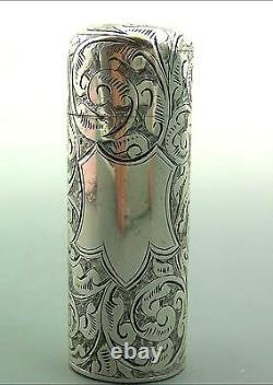 Antique Victorienne Cased Silver Parfum Bouteille Hilliard - Thomason