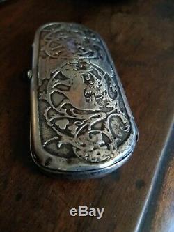 Antique Victorienne En Argent Sterling Lunettes Étui À Lunettes
