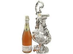 Antique Victorienne En Argent Sterling Vin Aiguière 1843