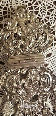 Antique Victorienne George Unissent Argent Sterling Châtelaine Ornate Clip