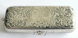 Antique Victorienne Hollis & Newman Sterling Argent Ornate Triple Porte-pièces