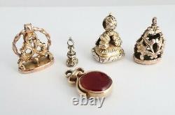 Antique / Vintage Chaîne De Montres De Poche Fobs