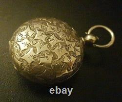 Antiquité Victorian 1885-86 Birmingham Solid Silver Pleine Affaire Souveraine / Mint