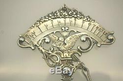 Antiquité Victorienne Gorham Co. Échelle De Lettres Postales À Suspendre En Argent Sterling # B10