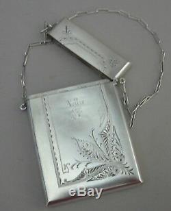 Appel Card Case, Argent Sterling Gorham Victorienne 1870