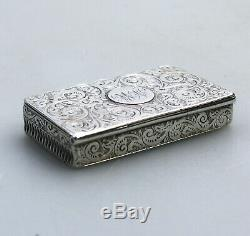 Argent Massif Antique Rare Nouveauté Victorienne Vesta Box C. 1888