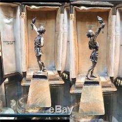 Argent Massif Antique Romaine Figure Statue En Boîte Birmingha 1912 Par Denton & Down