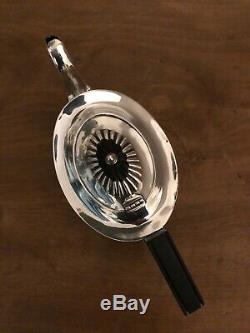 Argent Massif Antique Teapot Set X 3 Pièces Beatiful Cannelée Design Angleterre 1871
